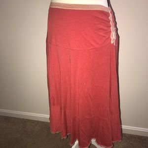 Free people Small Petite bohemian skirt (57)